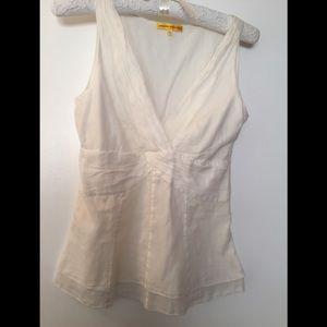 Catherine Malandrino sleeveless blouse ivory cream